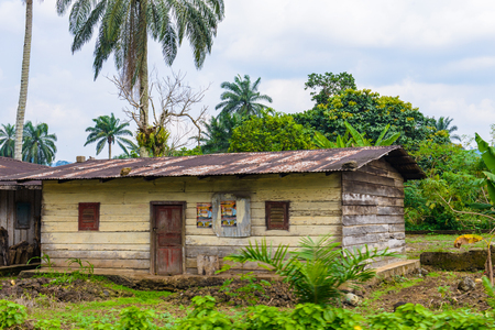 Poor house in village in Cameroon