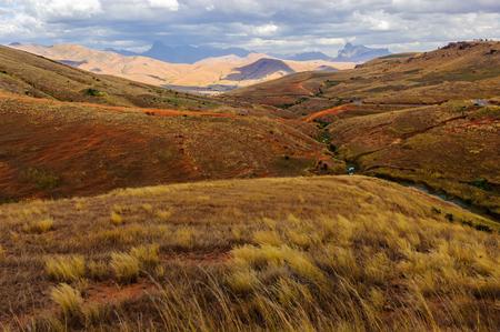 Campo en Madagascar, África Foto de archivo