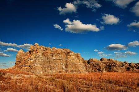 Typical nature of Madagascar, beautiful mountain