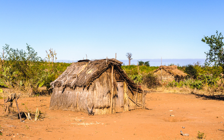 living organism: House on the sand in Madagascar, Africa