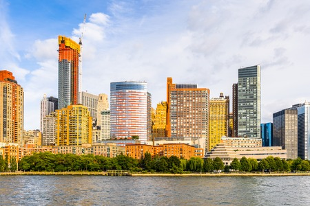 NEW YORK, USA - SEP 25, 2015: Beautiful view panoramic view of Manhattan of New York City, USA. New York is the most populous city in the United States