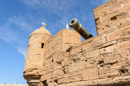 Fortified citadel and walls in Essouira Morocco Stock Photo