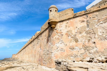 Fortified citadel and walls in Essouira Morocco Editorial