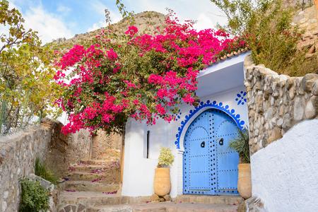 Architecture of Chefchaouen, Morocco. Standard-Bild