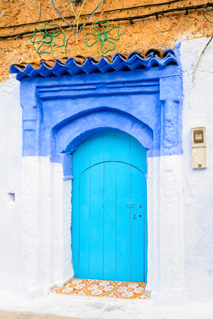 Architecture of Chefchaouen, Morocco. Stockfoto
