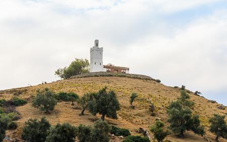 The church (La Iglesia) in Chefchaouen, Morocco.