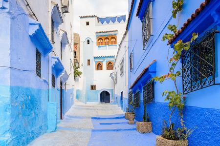 Architektura Chefchaouen, Maroko. Zdjęcie Seryjne