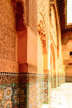 Architecture of Marrakesh, Morocco. Stock Photo