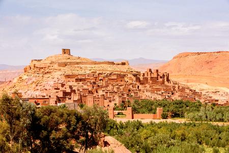 Ait Benhaddou, eine befestigte Stadt, der ehemalige Karawanenweg von Sahara nach Marrakesch. Standard-Bild - 91667223