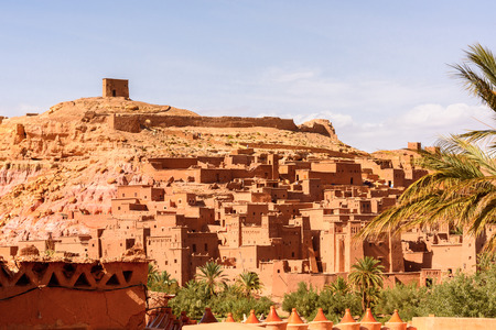 Ait Benhaddou, a fortified city, the former caravan way from Sahara to Marrakech. UNESCO World Heritage, Morocco Stock Photo