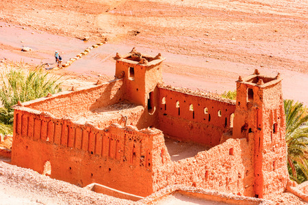 Part of Kasr of Ait Benhaddou, a fortified city, the former caravan way from Sahara to Marrakech.