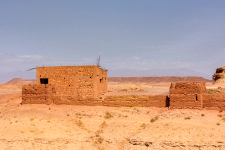 Ait Benhaddou, a fortified city, the former caravan way from Sahara to Marrakech. Stock Photo