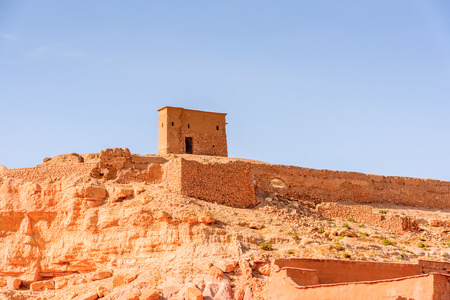 Kasr of Ait Benhaddou, a fortified city, the former caravan way from Sahara to Marrakech. Stock Photo