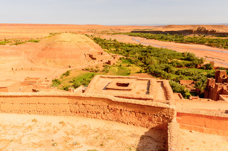 Kasr of Ait Benhaddou, a fortified city, the former caravan way from Sahara to Marrakech. Banque d'images
