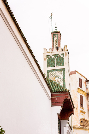 Architecture of Tangier, a major city in northern Morocco. It is the capital of the Tanger-Tetouan-Al Hoceima Region and of the Tangier-Assilah prefecture of Morocco. Stock Photo
