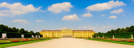 VIENNA, AUSTRIA - JUNE 14: Schonbrunn Palace and gardens on June, 17, 2013 in Vienna, Austria. One of the most important cultural monuments in the country and one of the major tourist attractions in Vienna