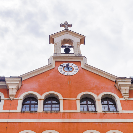 GRAZ, AUSTRIA - JUN 27, 2014: Seminary in Burgergasse, Graz. Graz is the capital of federal state of Styria and the second largest city in Austria Editorial
