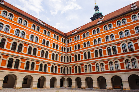 GRAZ, AUSTRIA - JUN 27, 2014: Courtyard of the Seminary in Burgergasse Graz. Graz is the capital of federal state of Styria and the second largest city in Austria