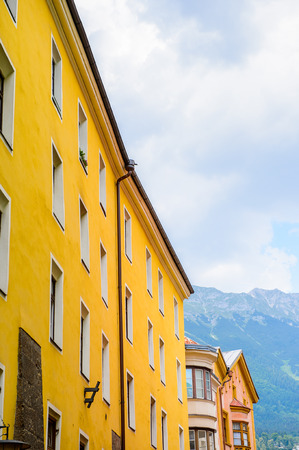 Architecture of Innsbruck, Austria, federal state of Tyrol (Tirol) Stock Photo