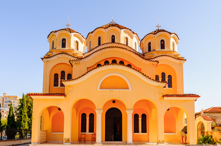 Orthodox church in Shkoder, Albania Stock Photo
