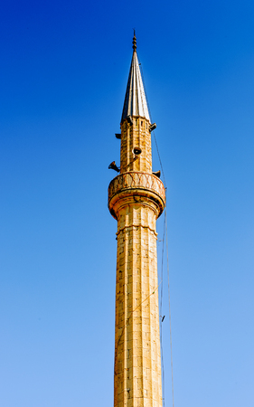 Ethem Bey Mosque (Xhamia e Ethem Beut), the center of the Albanian capital Tirana Stock Photo