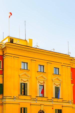 Architecture of Tirana, capital of Albania Stock Photo