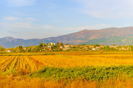 Mountains and the nature landscape of Albania Stock Photo