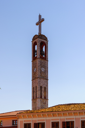 Bell tower in Albania
