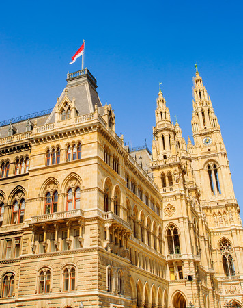 Rathaus, a building in Vienna which serves as the seat both of the mayor and city council of the city of Vienna.