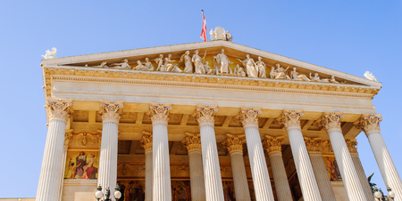 The Austrian Parliament Building  is where the two houses of the Parliament of Austria conduct their sessions. Editorial
