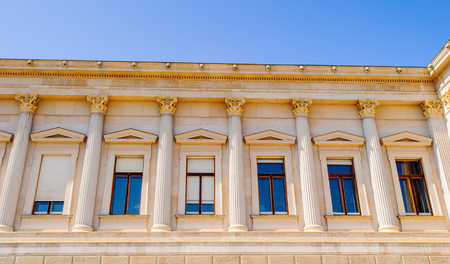 Columns of the Austrian Parliament Building, Vienna, Austria