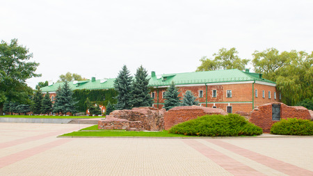 Museum of the Brest Fortress, Brest, Belarus. It is one of the Soviet World War II war monuments commemorating the Soviet resistance against the German invasion on June 22, 1941 Editorial