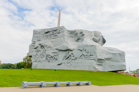 War monument in the Brest Fortress, Brest, Belarus. It is one of the Soviet World War II war monuments commemorating the Soviet resistance against the German invasion on June 22, 1941
