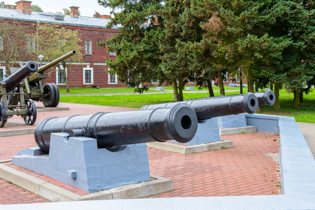 Canons of the Brest Fortress, Brest, Belarus. It is one of the Soviet World War II war monuments commemorating the Soviet resistance against the German invasion on June 22, 1941