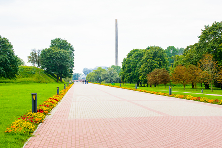 Brest Fortress, Brest, Belarus. It is one of the Soviet World War II war monuments commemorating the Soviet resistance against the German invasion on June 22, 1941