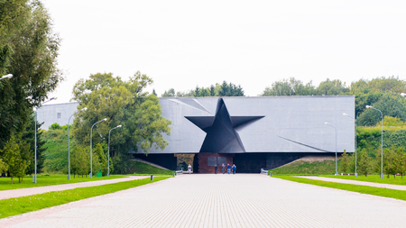 Entrance to the Brest Fortress, Brest, Belarus. It is one of the Soviet World War II war monuments commemorating the Soviet resistance against the German invasion on June 22, 1941