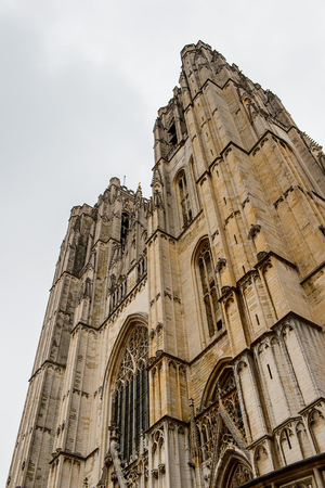 St. Michael and Gudula Cathedral in Brussels, Belgium.