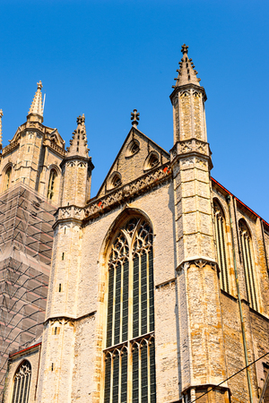 Sint-Baafs Cathedral in  the historic part of Ghent, Belgium. Banque d'images