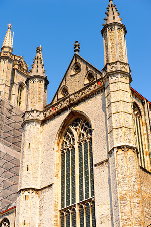 Sint-Baafs Cathedral in  the historic part of Ghent, Belgium. Stock Photo