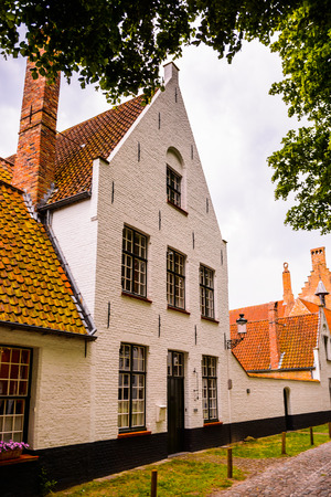 Architecture of the Historic Centre of Bruges, Belgium. part of the UNESCO World Heritage site
