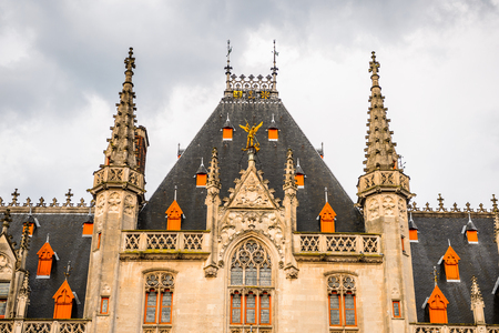 Provinciaal Hof on the Market square in the Historic Centre of Bruges, Belgium. Banque d'images