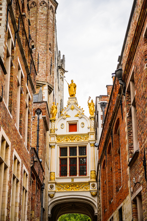 Historic Centre of Bruges, Belgium. part of the UNESCO World Heritage site Stock Photo