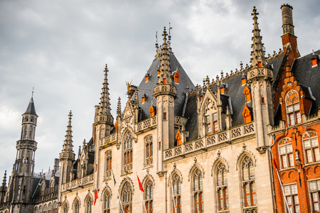 Provinciaal Hof on the Market square in the Historic Centre of Bruges, Belgium. Stock Photo