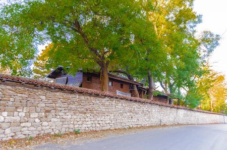 Street in the Bulgarian village Stock Photo