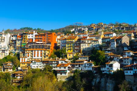 Cityscape of Veliko Trnovo, Bulgaria Stock Photo