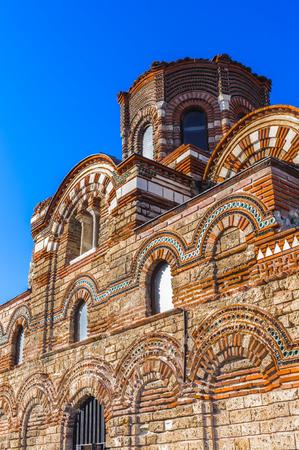 Church of Christ Pantokrator, Old town of Nesebar, Bulgaria, Bulgarian Black Sea Coast. UNESCO World Heritage Site Stock Photo