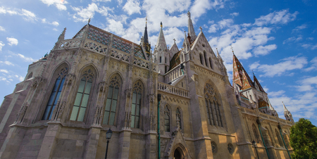 Part of the Matthias Church, a church located in Budapest, Hungary,