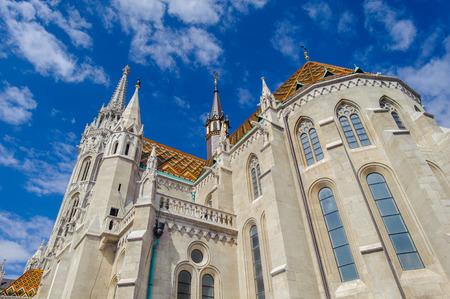 Close view of the Matthias Church, Budapest. Hungary
