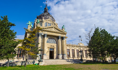 Szechenyi Medicinal Bath in Budapest, Hungary, is the largest medicinal bath in Europe. The bath can be found in the City Park, and was built in 1913 in Neo-baroque style to the design of Gyozo Czigler.