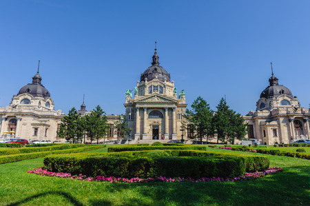 Szechenyi Medicinal Bath in Budapest, the largest medicinal bath in Europe. Stock Photo